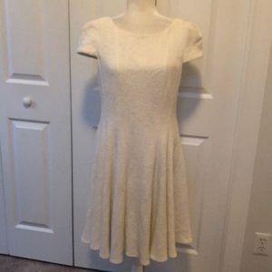Tibi ivory wool dress
